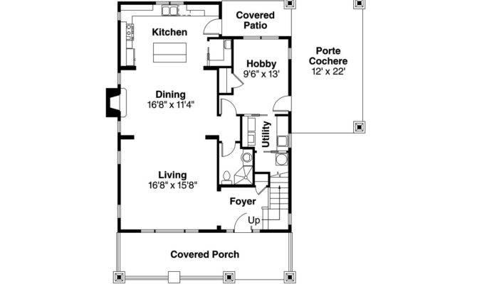 Bungalow House Plan Blue River Floor