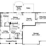 Bungalow House Plan Cavanaugh Floor