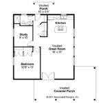 Bungalow House Plan Kent Floor