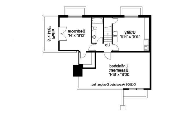 Bungalow House Plan Lone Rock Daylight Basement