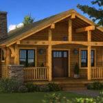 Bungalow Log Home Plan