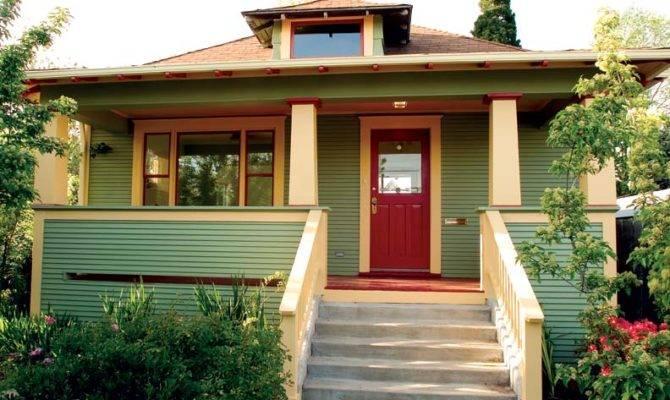 Bungalow Porch Design Red Door