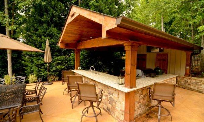 Cabana Outdoor Living Space Traditional Patio