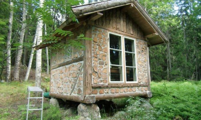 Cabin Cordwood Construction Dot WordPress Small House Tiny Home