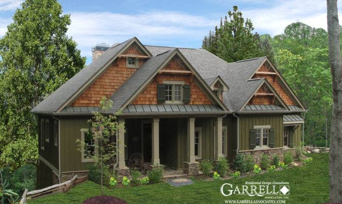 Cabin House Plan Front Elevation Craftsman Style Plans