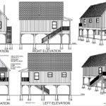Cabin Plans Converted Raised Flood Plain Blueprints