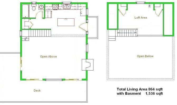 Cabin Plans Picclick Loft Basement