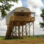 Cabin Stilts Plans Car River