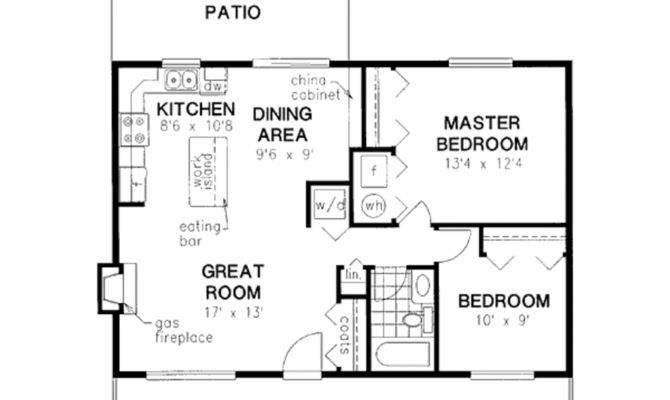 Cabin Style House Plan Beds Baths Floor