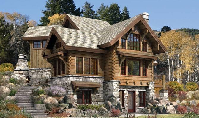 Cabins Plans Targhee Log Cabin Home Rustic Luxury