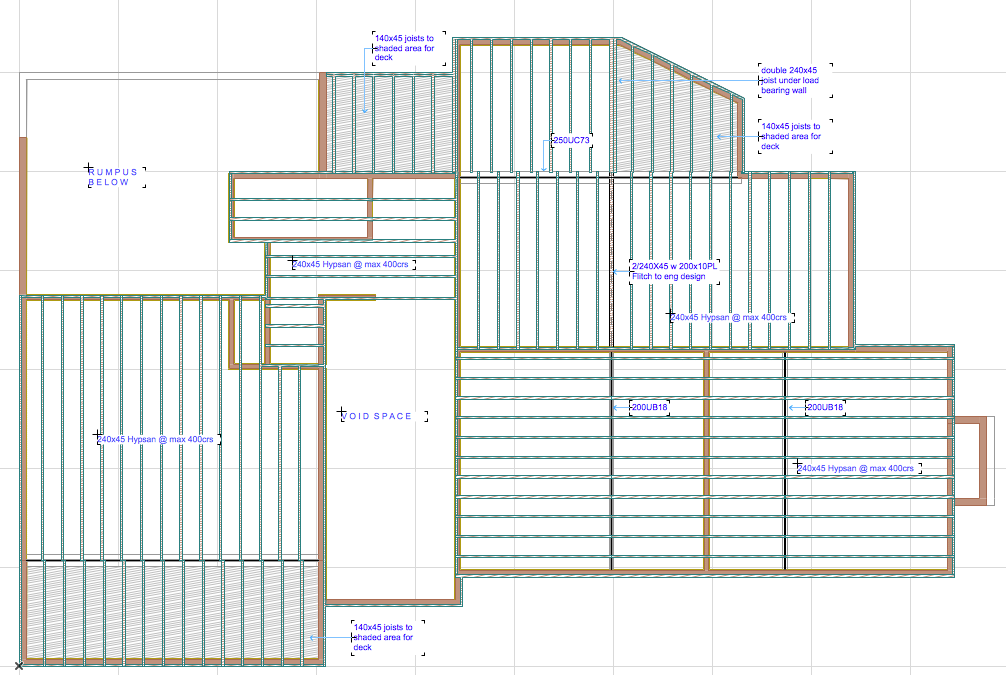 Document Mid Floor Framing Plan