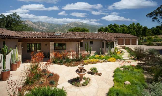 California Spanish Ranch Mediterranean Landscape