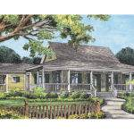 Campville Country Acadian Home Plan House Plans More