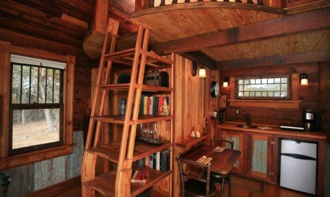 Canyon Lake Tiny Texas House Interior Living