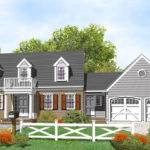 Cape Cod House Plans Porches Breezeway Garage Floor Car