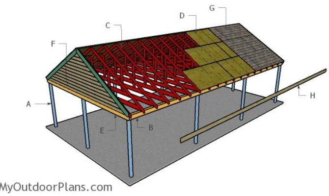 Car Carport Plans Myoutdoorplans Woodworking