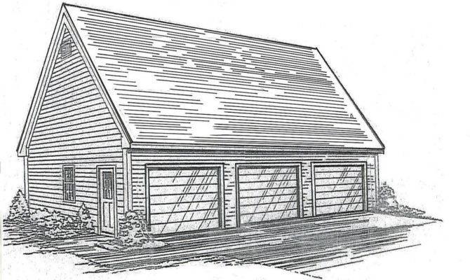 Car Garage Building Blueprint Plans Wlkuploft Ebay