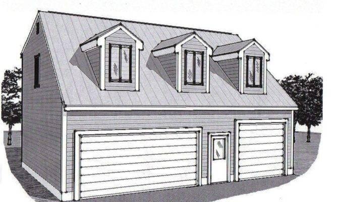 Car Garage Building Plans Dormered Loft Stall