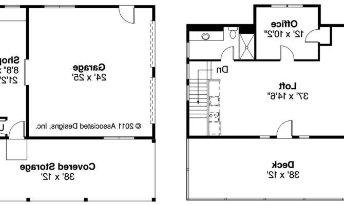 Car Garage Loft Plans Floor Plan