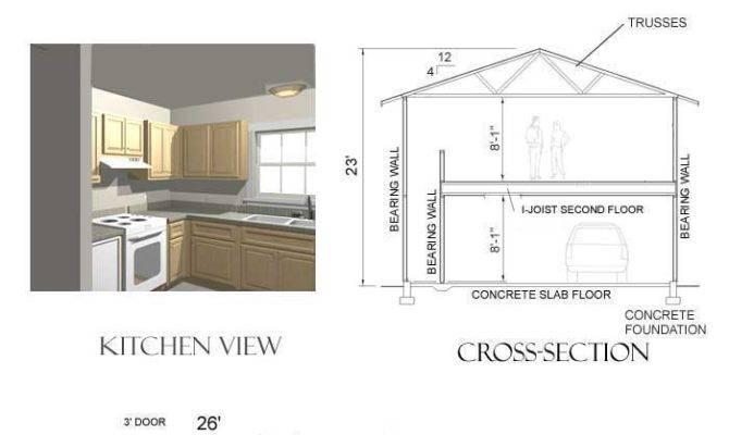 Car Garage Plan Two Story Apartment Baptbehm