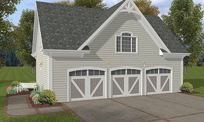 Car Garage Plans Three Loft Plan