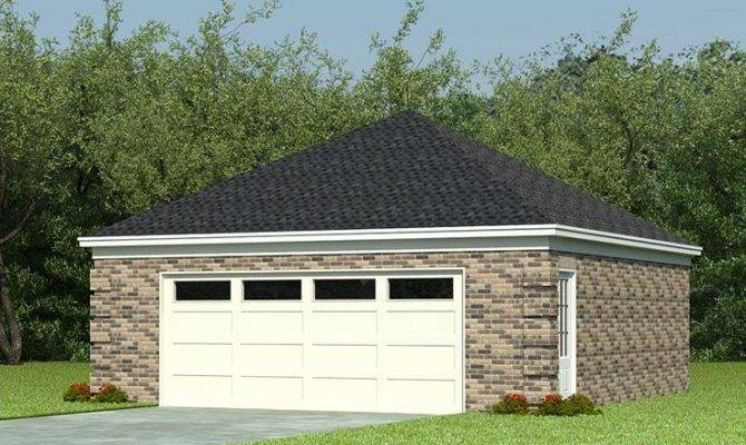 Car Garage Plans Two Plan Hip Roof