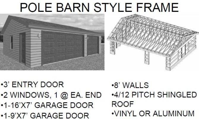 Car Garage Pole Barn