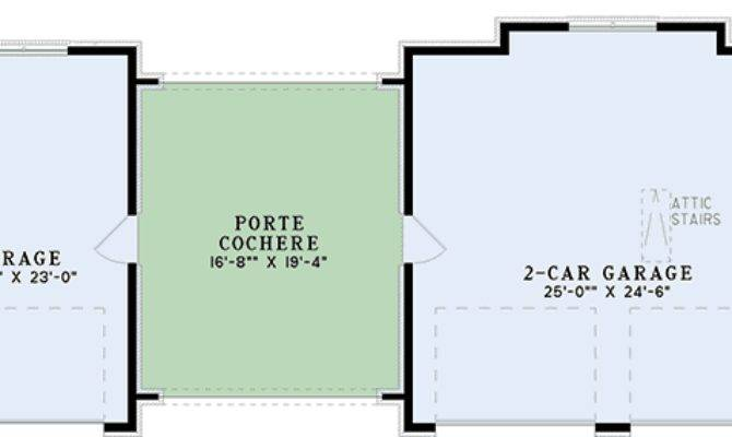 Car Garage Porte Cochere Cad Available