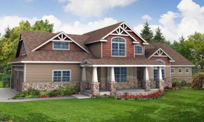 Casa Etaj One Story Craftsman House Plans