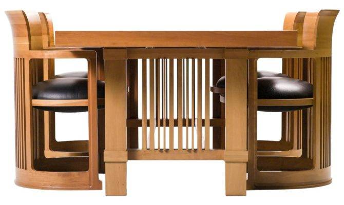 Cassina Taliesin Dining Table Barrel Chairs Designed