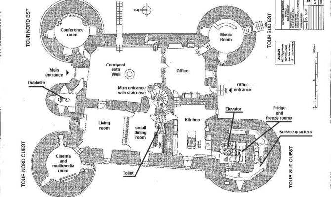 Castle Blueprints Plans Montbrun French Medieval Chateau