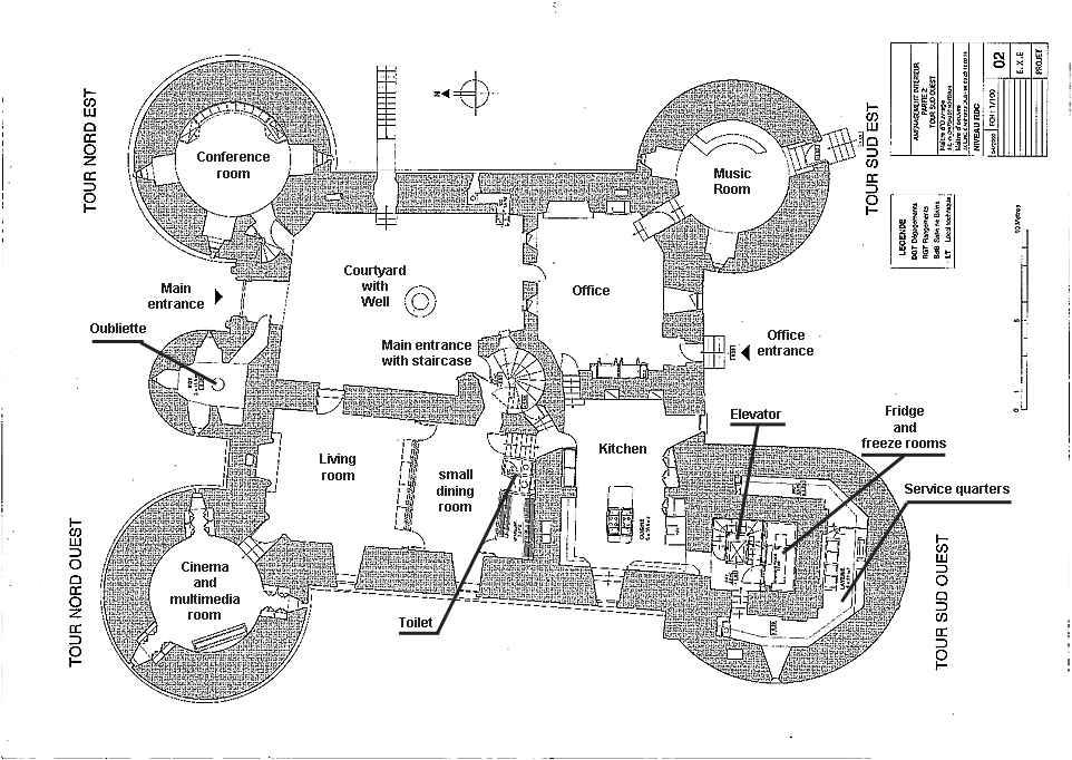 Castle Blueprints Plans Montbrun French Medieval Chateau