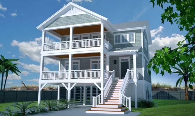 Casual Beach House Plan Architectural Designs