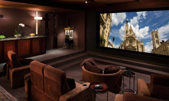 Casual Luxury Home Theater Setup Ideas