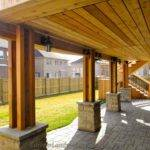 Cedar Deck Walkout Basement Pergola Traditional