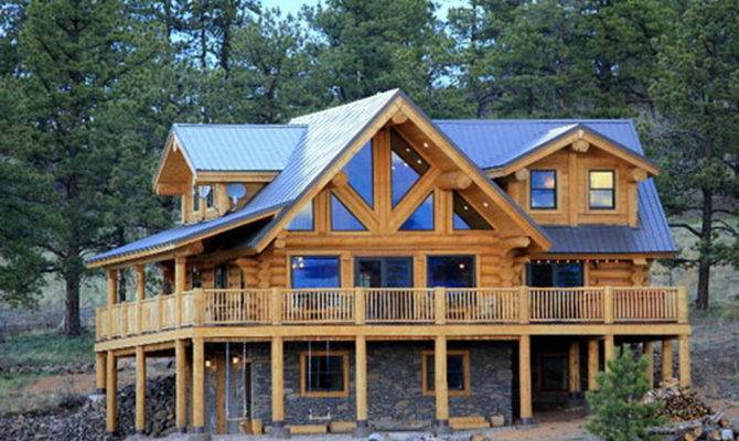 Cedar Stone Log Home Kit