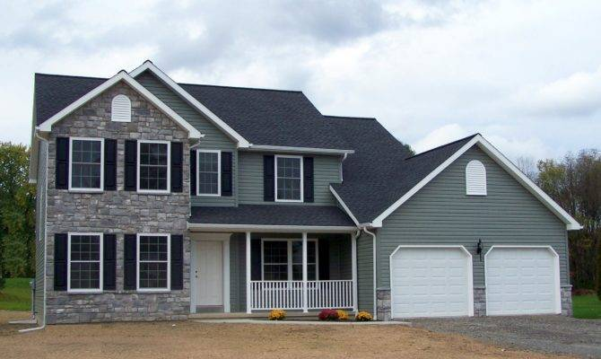Central Southern New York Two Story Home Plan