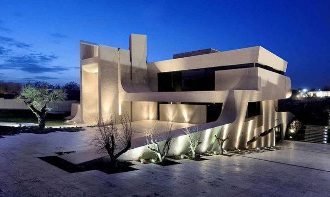Cero Architects Madrid House Concrete Spanish