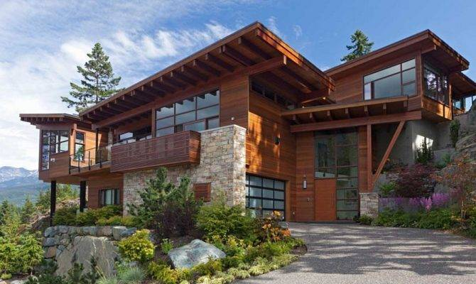 Chalet Whistler Canada Sweeping Mountain Lake Views Modern