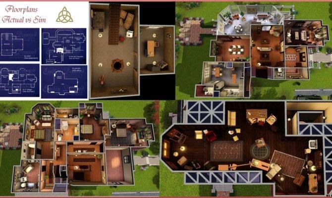 Charmed House Floorplans Over Plans
