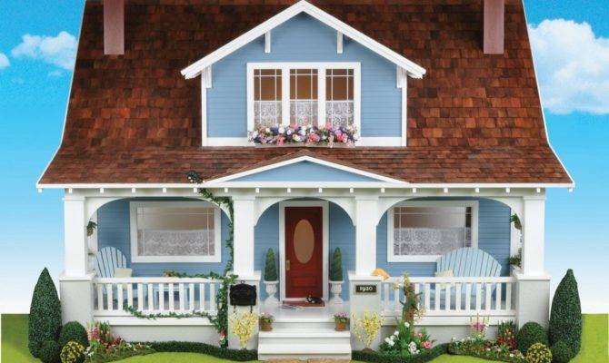 Charming Bungalow Style Dollhouse Kit Cozy Cottage Scale One