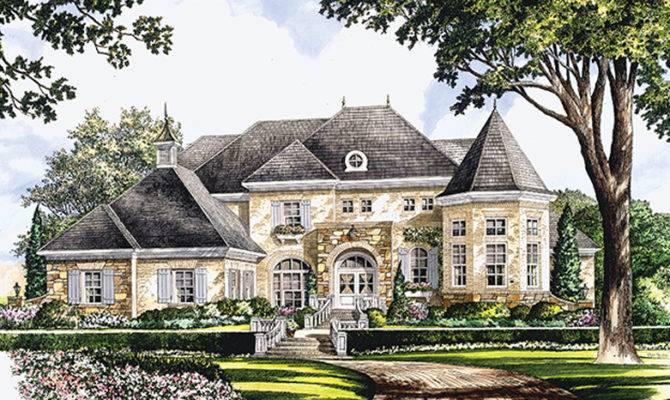 Chateauesque House Plans Designs Builderhouseplans