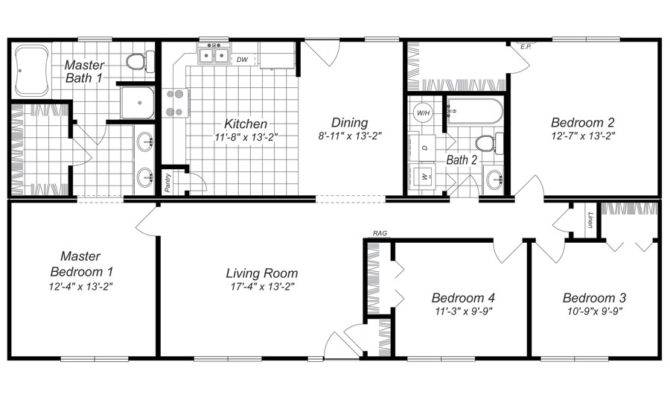 Cheap Bedroom House Plans Homes Floor