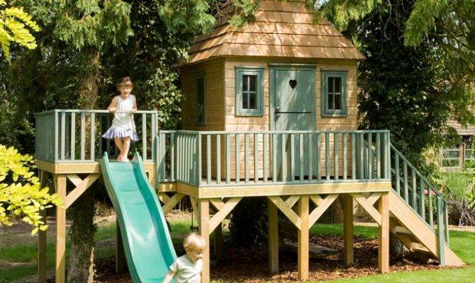 Childrens Garden Tree House Treehouses Playhouse