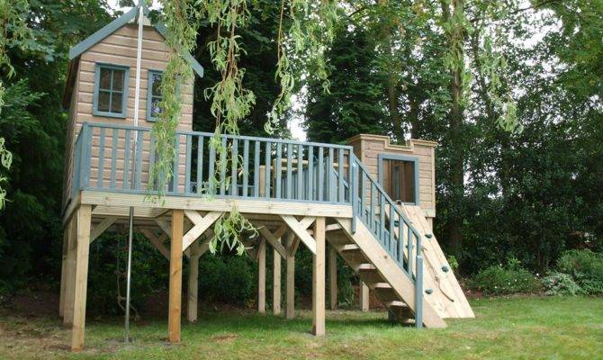 Childrens Treehouse Lookout Tower Treehouses