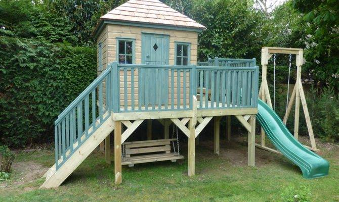 Childrens Wooden Playhouse Treehouses