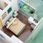 China Miniature Architectural Models Building House Interior Children