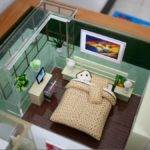 China Miniature Architectural Scale Models Building House Main Bedroom