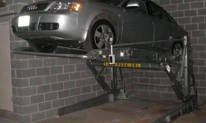 China Two Level Post Tilt Garage Park Lift Car