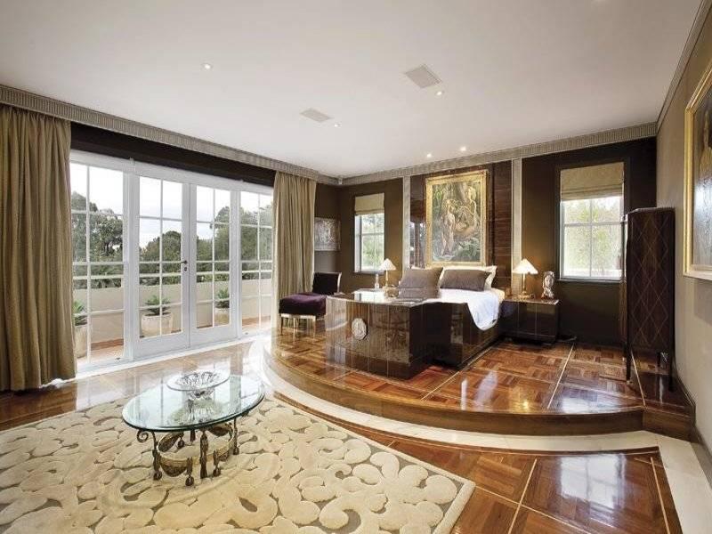 Classic Bedroom Design Idea Glass Balcony Using